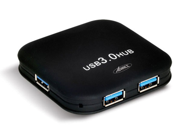 Hub USB 3.0 ADVANCE HUB-403U3 - 4 ports Type A, alimentation fournie