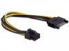 Cordon d'alimentation carte graphique PCI-E - SATA 15 pins (M) vers 6/2 pins (F)