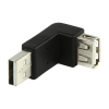 Adaptateur USB 2.0 type A (M) vers USB 2.0 type A (F) (coude 90°)
