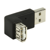 Adaptateur USB 2.0 type A (M) vers USB 2.0 type A (F) (coude 270°)