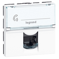 LEGRAND MOSAIC - Prise RJ45 Cat 6 FTP, 2 modules, blanc