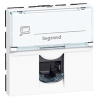 LEGRAND MOSAIC - Prise RJ45 Cat 6 STP, 2 modules, blanc