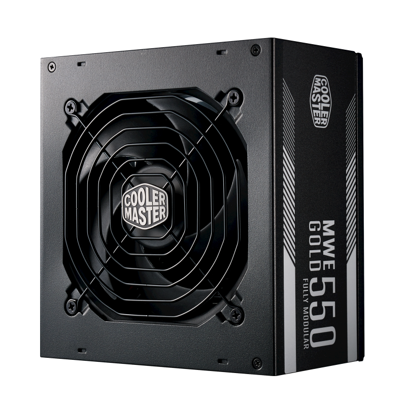 Alimentation COOLER MASTER MWE Gold 550 - 550 W ATX, ventilateur 120 mm, full modulaire