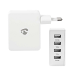 SWEEX CH-007WH - Chargeur secteur 2 x USB Type-A 1.0A + 2 x USB Type-A 2.4A, 4.8A max., blanc
