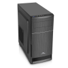 Boîtier PC ADVANCE Impulse 350 6613B3 - Mini tour Micro-ATX, 350 W nominale, lecteur de carte SD, USB 3.0, noir