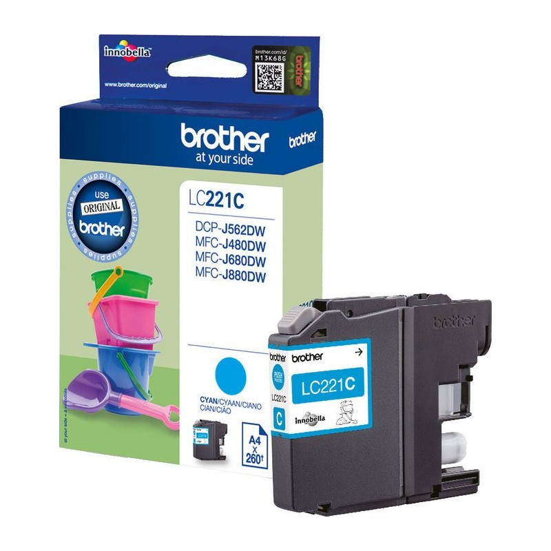 BROTHER LC221C - Cartouche d\'encre cyan
