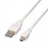 Cordon USB 2.0 Type A (M) vers Mini-USB 2.0 Type B (M) - 1.5 m