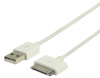 Cordon USB 2.0 Type A (M) vers APPLE 30pins (M) - 2 m, blanc