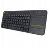 Clavier LOGITECH WIRELESS TOUCH KEYBOARD K400 PLUS - noir