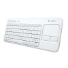 Clavier LOGITECH WIRELESS TOUCH KEYBOARD K400 PLUS - blanc