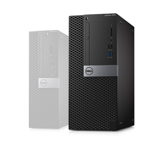 PC de bureau DELL Optiplex 5050 MT - Intel Core i7-7700, 8 Go, 256 Go, 1 To, DVDRW, Windows 10 Pro, Garantie 3 ans