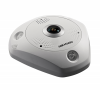 Caméra IP Fisheye HIKVISION - 3 MP, WDR, IR 15m, IP66/IK10, PoE, Alarm/Audio IO