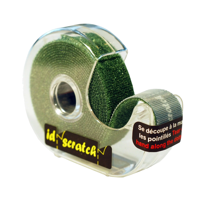 PATCHSEE ID-SCRATCH - Attache câbles dévidoir de 2.5 m, vert