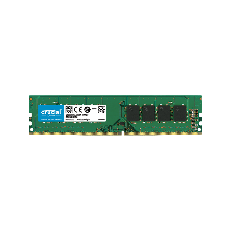 Mémoire RAM CRUCIAL UDIMM DDR4 - 16 Go, PC4-21300, 2666 MHz, CL19, 1.2V
