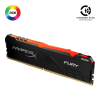 Mémoire RAM KINGSTON HyperX Fury RGB DDR4 - 8 Go, 3200 MHz, CL16, 1.35V, noir