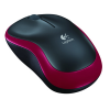 Souris LOGITECH WIRELESS MOUSE M185 - noir/rouge