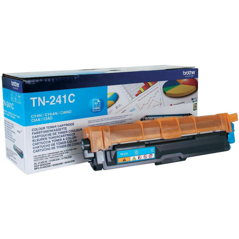BROTHER TN-241C - Cartouche toner laser cyan, 1400 pages