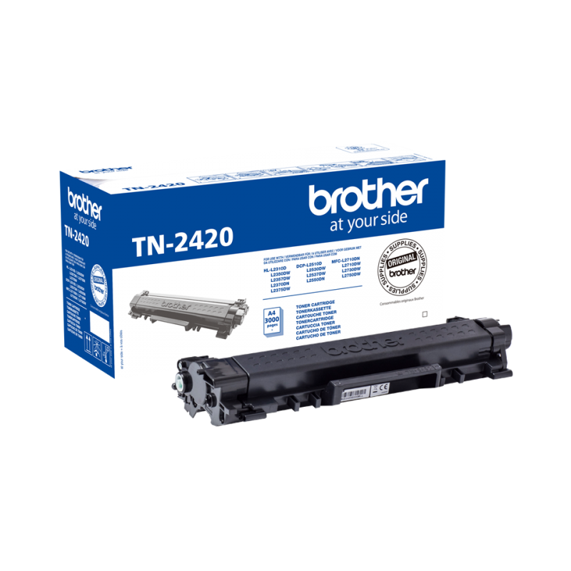 BROTHER TN2420 - Cartouche toner laser noir, 3000 pages