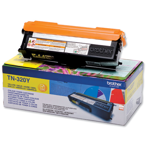 BROTHER TN-320Y - Cartouche toner laser jaune, 1500 pages